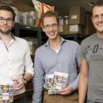 Die drei MEDIAFIX-Gruender: Stefan Wickler, Hans-Günter Herrmann und Christoph Kind