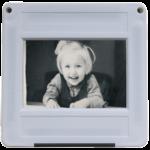 Digitalisiertes Dia mit Kindheitserinnerung