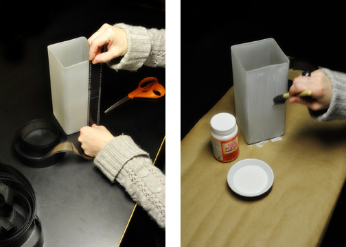 Negative scannen und stylische Lampen basteln