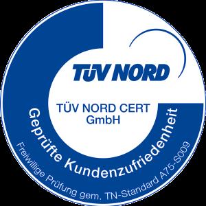 TÜV-Nord-Zertifizierung für Kundenzufriedenheit