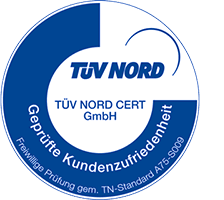 TÜV-Siegel: Geprüfte Kundenzufriedenheit