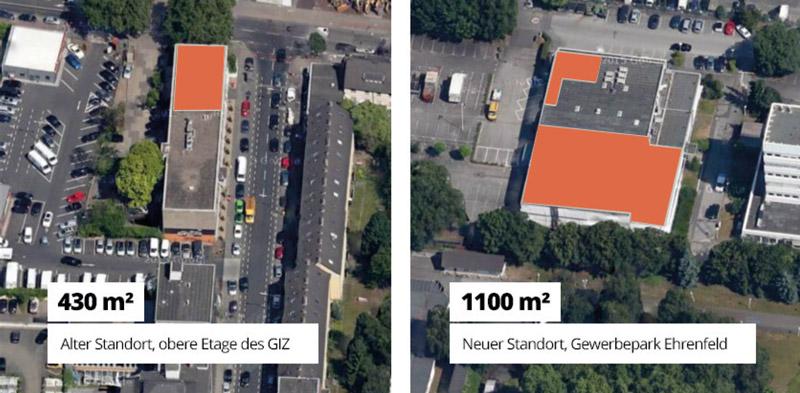 MEDIAFIX-Archiv-Bild: Alter und neuer Produktionsstandort im Vergleich
