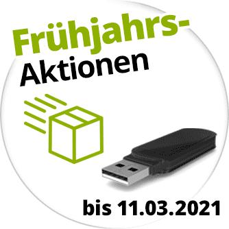 Frühjahrs-Aktionen mit Gratis-USB-Stick und Gratis-Rückversand