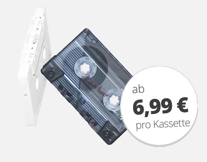 Musikkassetten digitalisieren ab 6,99 €