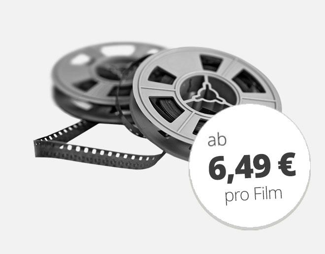 Schmalfilme digitalisieren ab 6,49 €
