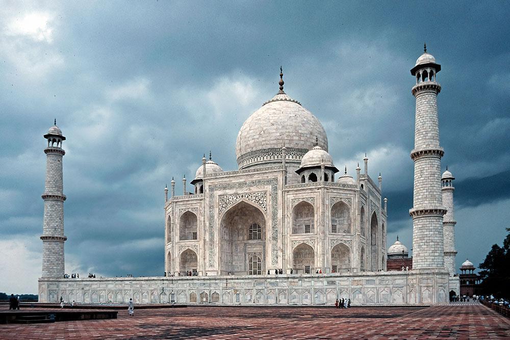 Digitalisiertes Kundenbild vom Taj Mahal