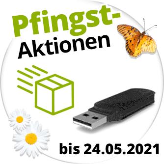 Pfingst-Aktionen mit Gratis-USB-Stick und Gratis-Rückversand