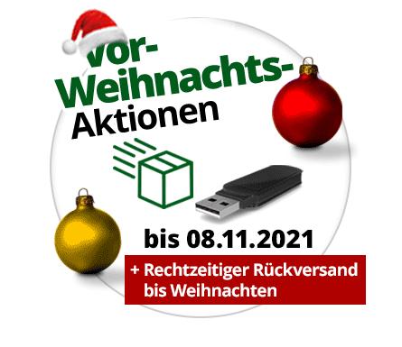 Vorweihnachts-Aktionen mit Gratis-USB-Stick oder Gratis-Rückversand